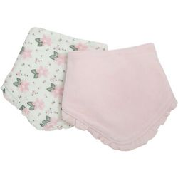Kyle & Deena Baby Girls 2-pc. Floral Bandana Bibs Set