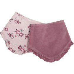 Kyle & Deena Baby Girls 2-pc. Ruffled Floral Bandana Bibs