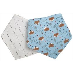 Chick Pea Baby Boys 2-pc. Fox Bandana Bibs Set