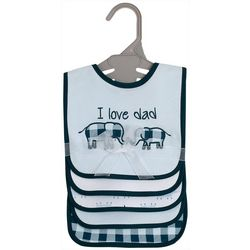 Kyle & Deena Baby Boys 5-pk. I Love Dad Elephant Bibs