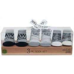 Chick Pea Baby Boys 3-pk. Awesome Elephant Socks Set