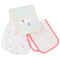 Chick Pea Baby Girls 3-pk. Princess Bear Burp Cloths