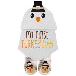 Sandy & Simon Baby Boys 3-pk. My First Turkey Day Bib Set