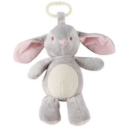 Kelly Baby Baby Boys Bunny Plush Rattle Clip-On Pram Toy