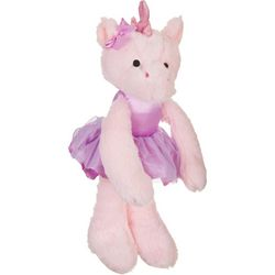 Kelly Baby Baby Girls Plush Ballet Unicorn Rattle Toy