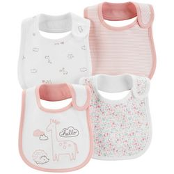 Carters Baby Girls 4-pk. Giraffe Teething Bibs