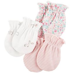 Carters Baby Girls 3-pk. Floral Mittens