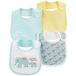 Carters Baby Girls 4-pk. Elephant Teething Bibs