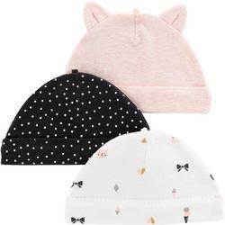 Carters Baby Girls 3-pk. Kitty Hats