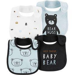 Carters Baby Boys 4-pk. Baby Bear Teething Bibs