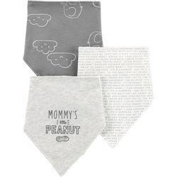Carters Baby Unisex 3-pk. Little Peanut Bandana Bibs