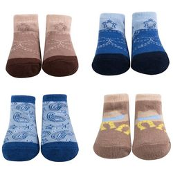 Baby Essentials Baby Boys 4-pk. Cowboy Socks