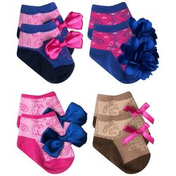 Baby Essentials Baby Girls 4-pk. Cowgirl Bow Socks