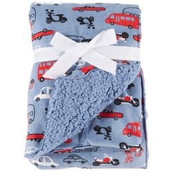 My Baby Boutique Baby Boys Vehicles Plush Baby Blanket