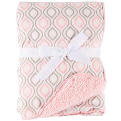 My Baby Boutique Baby Girls Ogee Fleece Baby Blanket