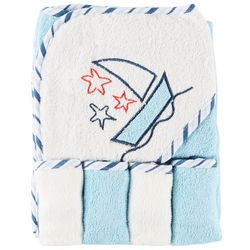 My Baby Boutique Baby Boys 5-pc. Hooded Sailboat Towel Set