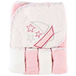 My Baby Boutique Baby Girls 5-pc. Hooded Sailboat Towel Set