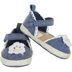 Stepping Stones Baby Girls Crochet Flower Closed Toe Sandals