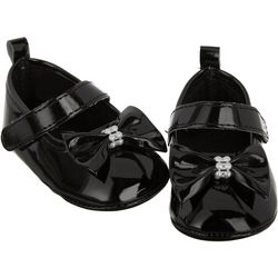 Stepping Stones Baby Girls Patent Bow Closed Toe Shoes