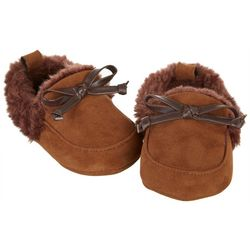 Stepping Stones Baby Boys Faux Fur Lined Moccasins