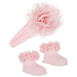 Nicole Miller New York 2-pk. Chiffon Headband & Socks Set