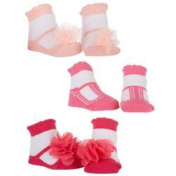 Nicole Miller New York Baby Girls 3-pk. Rosette Socks