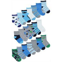 Capelli Baby Boys 20-pk. Shark Socks