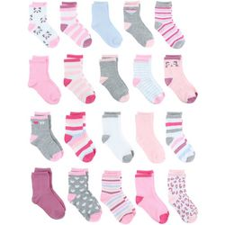 Capelli Baby Girls 20-pk. Kitty Love Socks