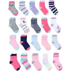 Capelli Baby Girls 20-pk. Critter Socks
