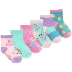 Capelli Baby Girls 6-pk. Hello Sunshine Socks