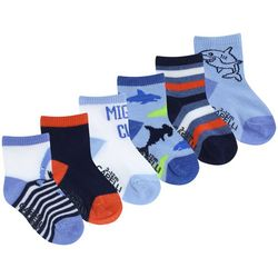 Capelli Baby Boys 6-pk. Mighty Cute Shark Grippy Socks