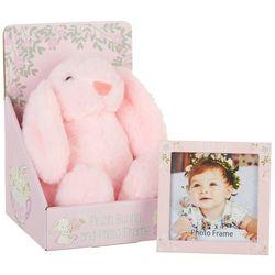 Little Me Baby Girls 2-pc. 4x4 Photo Frame & Bear Plush Set