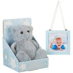 Little Me Baby Boys 2-pc. 4x4 Photo Frame & Bear Plush Set