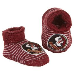 Florida State Newborn Baby Unisex Team Booties