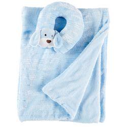 Night Cuddles Baby Boys Dog Support Pillow & Blanket Set