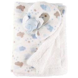 Night Cuddles Baby Boys Elephant Pillow & Blanket Set