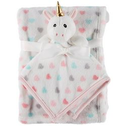 Darling Hearts Baby Girls 2-pc. Unicorn Blanket Set