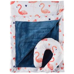 Cloud 9 Baby Girls 2-pc. Flamingo Blanket & Support Pillow