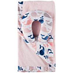 Cloud 9 Baby Girls 2-pc. Whale Blanket & Support Pillow