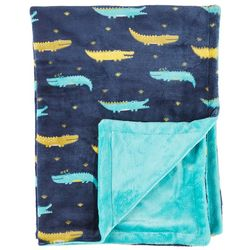 Madison Alligator Flannel Baby Blanket