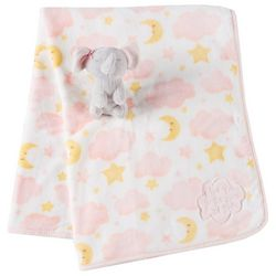 Tag Along Friends Baby Girls Elephant Blanket & Plush Toy