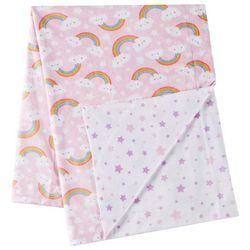 Night Cuddles Baby Girls Happy Rainbow Baby Blanket