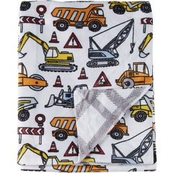 Night Cuddles Baby Boys Road Work Baby Blanket