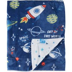 Night Cuddles Baby Boys Outer Space Baby Blanket