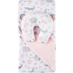 Bedtime Story Baby Girls 2-pc. Zoo Reversible Blanket Set