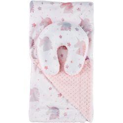 Bedtime Story Baby Girls 2-pc.Unicorn Reversible Blanket Set