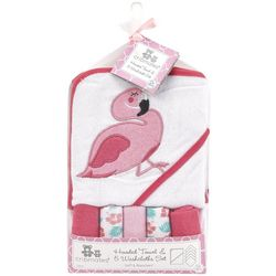 Cribmates Baby Girls 6-pc. Flamingo Towel & Washcloth Set