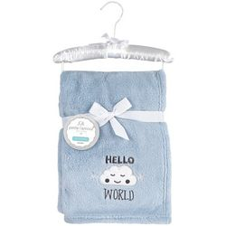 Petite L'Amour Baby Boys Hello World Blanket