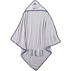 Cribmates Baby Boys 6-pc. Whale Towel & Washcloth Set