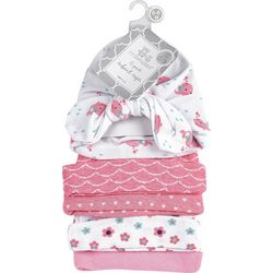 Cribmates Baby Girls 5-pk. Mixed Print Caps